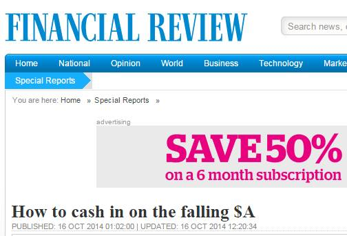 AFR Australian Financial Review October 2014